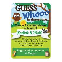 Woodland Theme Customizable Baby Shower Invitation