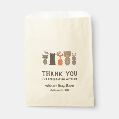 Woodland Themed Baby Shower Favor Bags