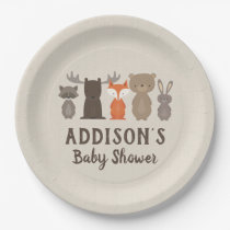 Woodland Themed Baby Shower Paper Plates