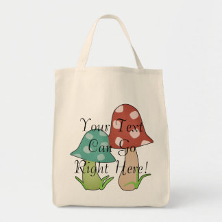 Woodland Toadstools Tote Bag