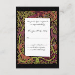 Woodland Tones Celtic Animals Design Wedding RSVP