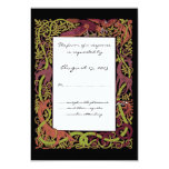 Woodland Tones Celtic Animals Design Wedding RSVP Card