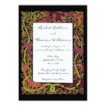Woodland Tones Celtic Animals Wedding Invitation