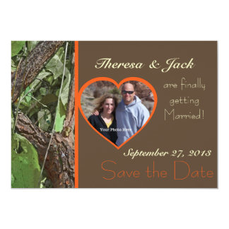 Woodland Tree Bark Save the Date 5x7 Paper Invitation Card