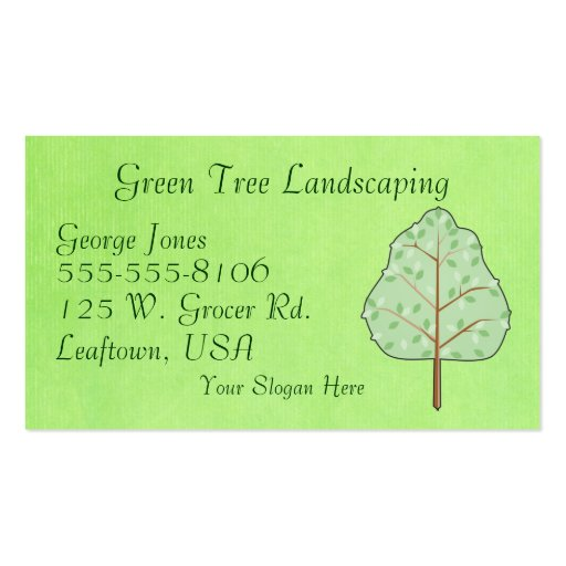 Woodland Tree Business Card Template