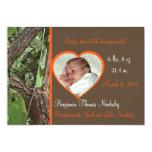 """Woodland Tree Camo Baby 5"""" X 7"""" Invitation Card"""