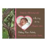 """Woodland Tree Camo Baby Girl 5"""" X 7"""" Invitation Card"""