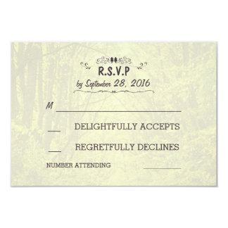 Woodland Trees Avenue Rustic Wedding RSVP Cards