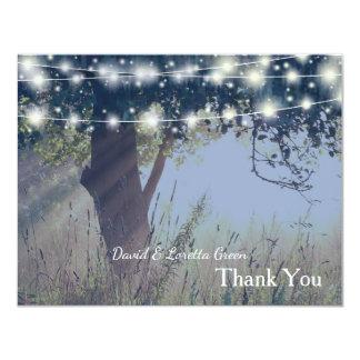 Woodland Twilight Fairy Lights Thank You Card