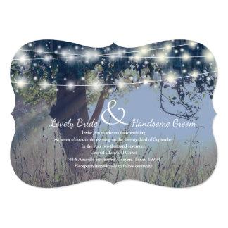 Woodland Twilight Fairy Lights Wedding Invitation