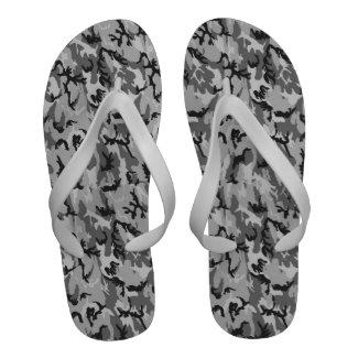 Woodland Urban Camouflage Background Sandals