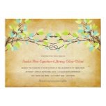 Woodland Vintage Rustic Knotted Love Tree Wedding Card
