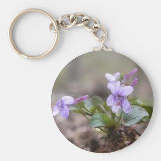 Woodland Violet Keychain