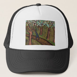 woodland walk digitally altered trucker hat