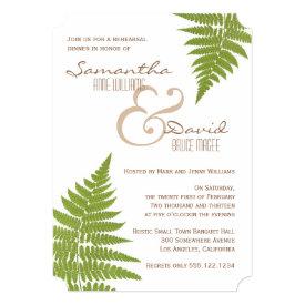 Woodland Wedding Fern Rehearsal Dinner Invitation 5