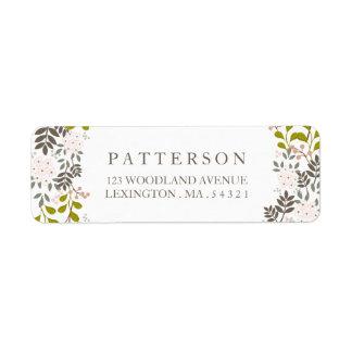 Woodland Wedding Floral Return Address Label