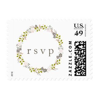 Woodland Wedding Response Card RSVP Stamp