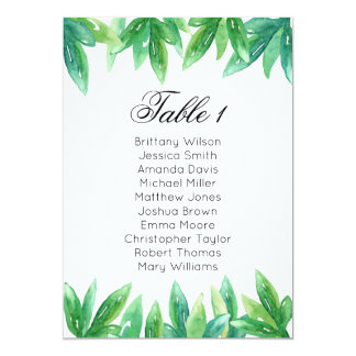 Woodland wedding seating chart. Garden table plan Card