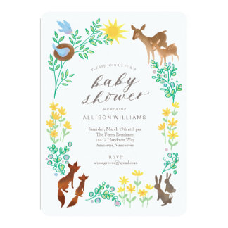 Woodland Welcome Baby Shower Invitation