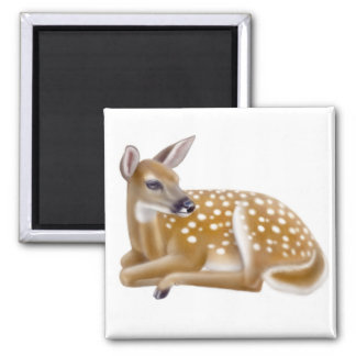 Woodland White Tailed Deer Fawn Magnet