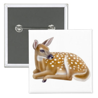 Woodland White Tailed Deer Fawn Pin