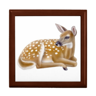 Woodland Whitetail Deer Fawn Gift Box