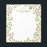 "Woodland Wildflower Personalized Social Stationery Notepad<br><div class=""desc"">An abundance of wildflowers and greenery adorns this pretty personalized notepad for garden and nature lovers.  In lovely colors of a woodland meadow with plenty of greens,  and a touch of apricot and blue. Customized with your text and name.</div>"