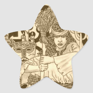Woodland Witch Star Sticker