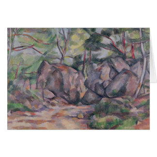 Woodland with Boulders, 1893 Greeting Card
