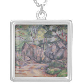 Woodland with Boulders, 1893 Silver Plated Necklace