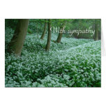 Woodland 'With sympathy' card