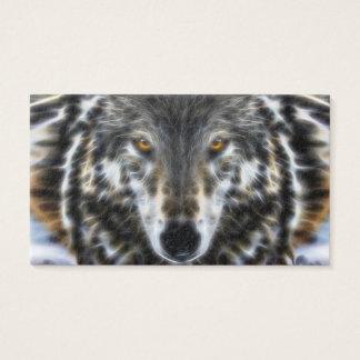 Woodland Wolf Inspirational Portrait Business Card