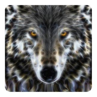 Woodland Wolf Inspirational Portrait Card
