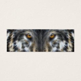 Woodland Wolf Inspirational Portrait Mini Business Card