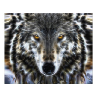 Woodland Wolf Inspirational Portrait Photo Print