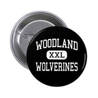 Woodland - Wolverines - High - Dorchester Pinback Button