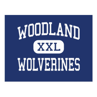 Woodland Wolverines Middle East Point Postcard