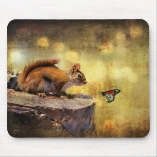 Woodland Wonder - Squirrel & Butterfly Mousepad