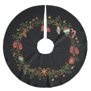 woodland wreath design christmas tree skirt