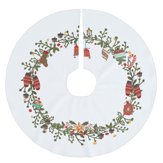 Woodland Wreath Design - Christmas Tree Skirt