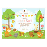 "Woodlands Baby Shower Invitation / Woodland Invite 5"" X 7"" Invitation Card"