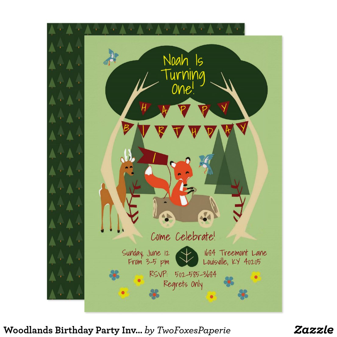 Woodlands Birthday Party Invitation