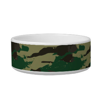 Woodlands camouflage bowl