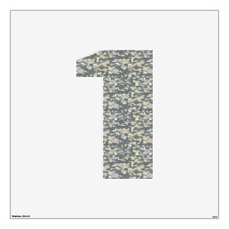 Woodlands Digital Camo Wall Decal Number One-Large