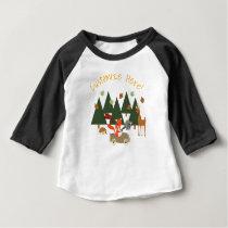 Woodlands forest animals birthday shirt