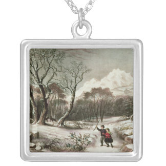 Woodlands in Winter Silver Plated Necklace