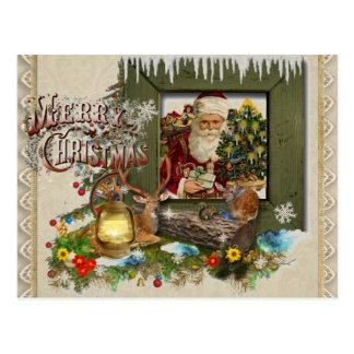 Woodland's Window Holiday Christmas Postcard