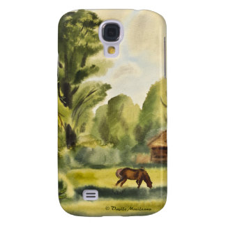 Woodman's House watercolor painting Samsung Galaxy S4 Cases