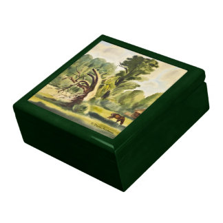 Woodman's House watercolor painting Jewelry Boxes