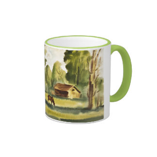 Woodman's House watercolor painting Mug